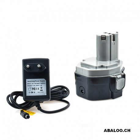 Batterie compatible Makita 14.4V 2Ah + chargeur