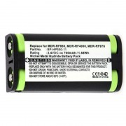 Batterie casque audio 2.4V 700mAh