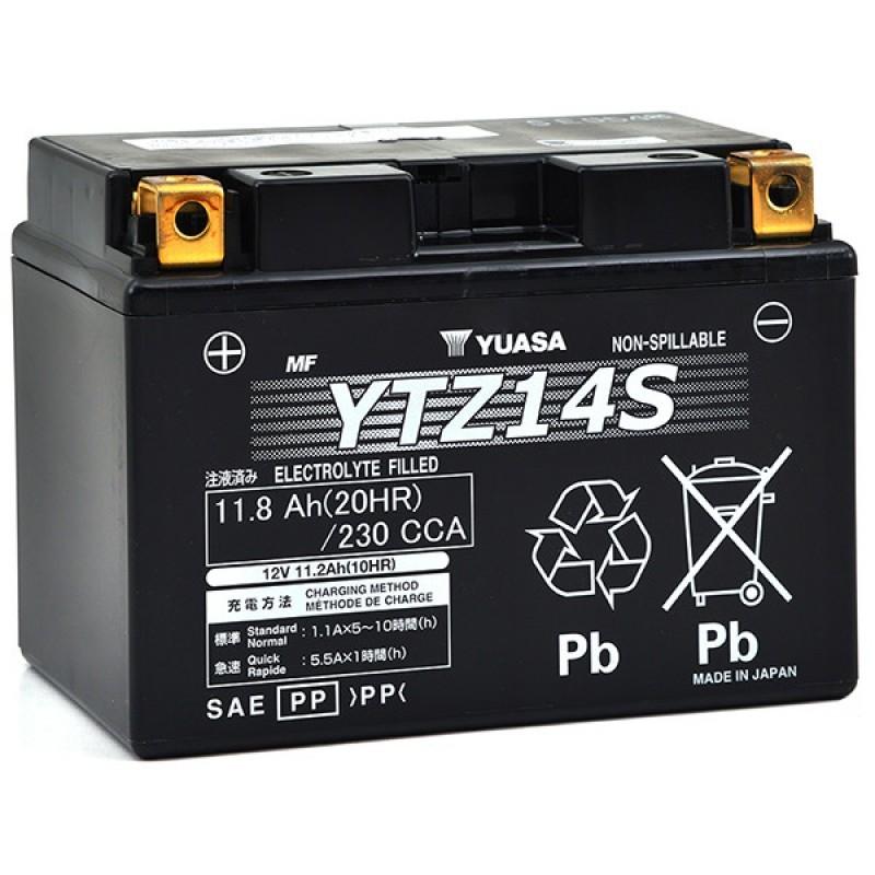 Pièces électriques, allumage BATTERIA YUASA YTZ14S 12V 11Ah SIGILLATA PRECARICATA HONDA NSA DN