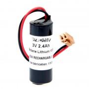 Batterie lithium 1x CR17450 1S1P ST1 3V 2.4Ah Connecteur JAE