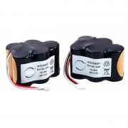 Batterie aspirateur 10x SC 2 * 5S1P 6V 3000mAh JST (ensemble de 2 batteries)