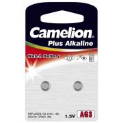 2 piles bouton AG3 - LR41 alcalines Camelion