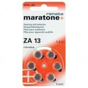 60 Piles bouton zinc-air Renata ZA 13 - 265 mAh 1.4 V