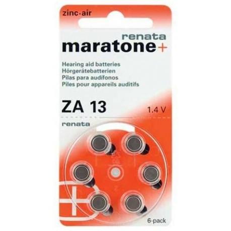 60 Piles bouton zinc-air Renata ZA 13 265 mAh 1.4 V